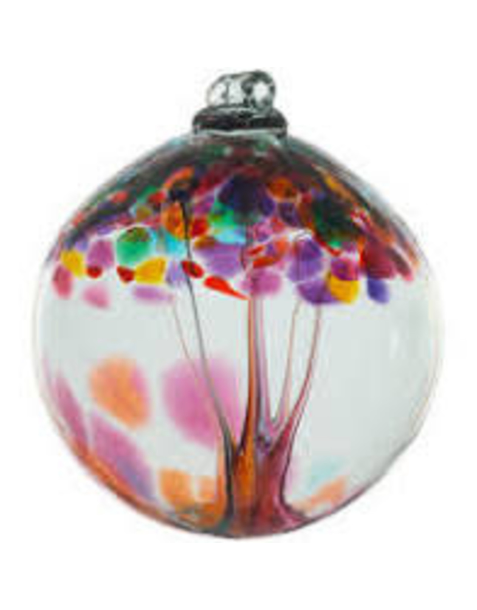 "Kitras Art Glass GRATITUDE (Trees of Enchantment, 6"" D., KITRAS)"