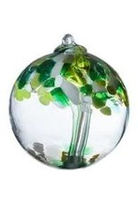 "Kitras Art Glass WELL BEING Trees of Enchantment, 6"" D., KITRAS)"