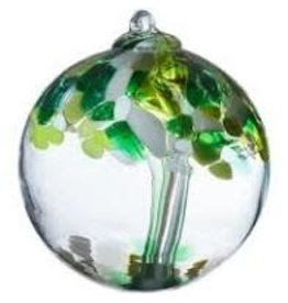 """Kitras Art Glass WELL BEING Trees of Enchantment, 6"""" D., KITRAS)"""