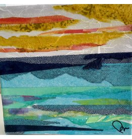 "Pam Maschal SEASCAPE COLLAGE,  (Mixed Media, gallery wrap, 6x6"" PAMM)"