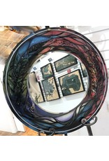 """Romani Schrems STAINED GLASS RAINBOW MIRROR (24""""D.)"""