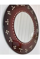 """Romani Schrems PEARL BUTTERFLY MIRROR (24""""D.)"""