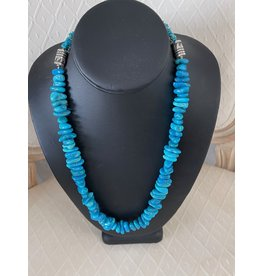 "Rare Finds NECKLACE, 3X grade A Kingman turquoise, sterling, single strand 22"" RARE"