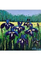 "Kelly Pounds IRISES, acrylic on gallery wrapped canvas, 12x12"", KELP"