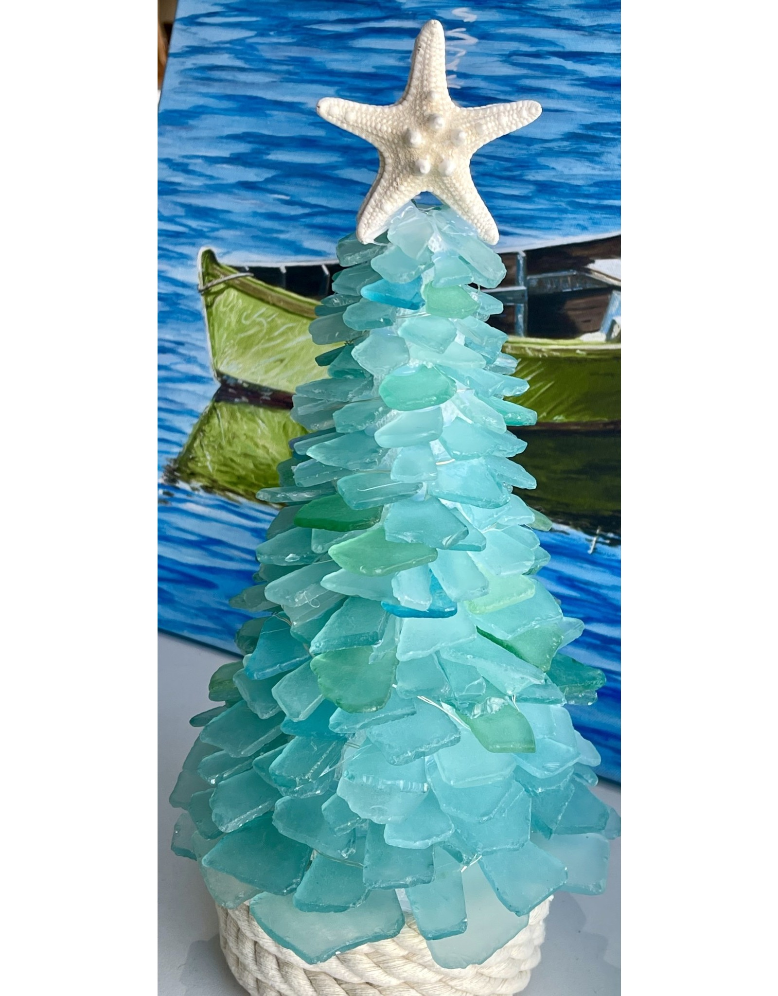 "Susan Marinaccio SEA GLASS TREE, large, @12-14"", SUSM"