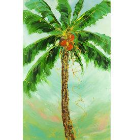 "Lisa Jill Allison PROUD PALM, acrylic on GW canvas, 30x50"", LISA"