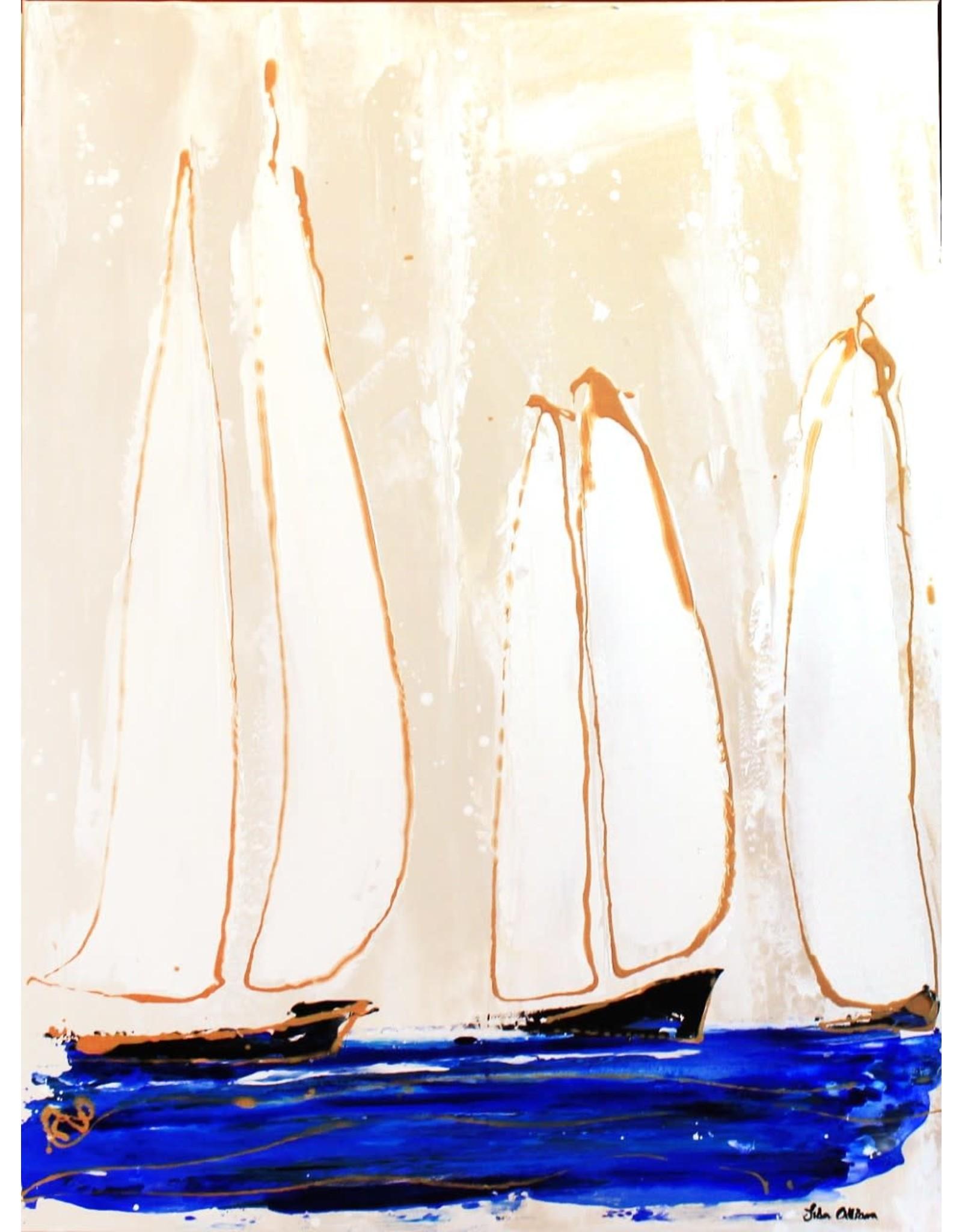 "Lisa Jill Allison FREESTYLE, acrylic on GW canvas, 30x40"". LISA"