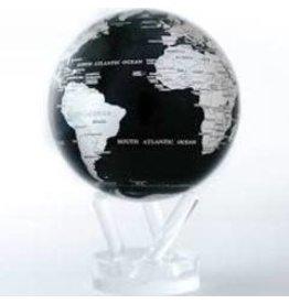 "Mova Globes BLACK & SILVER (MOVA Globe 6"" w/Acrylic Base)"