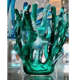 "Karen Hovis TEA LIGHT/VOTIVE, Fused Glass, 4"" KARH)"