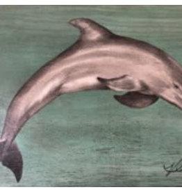 """Molly Pearce Dolphin (Mixed media 17x24"""" MOLP)"""