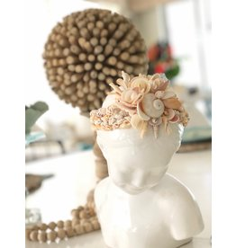 """Susan Marinaccio Conchiglietta de Mare, Italian sculpture w/shells, 12"""" h, SUSM"""