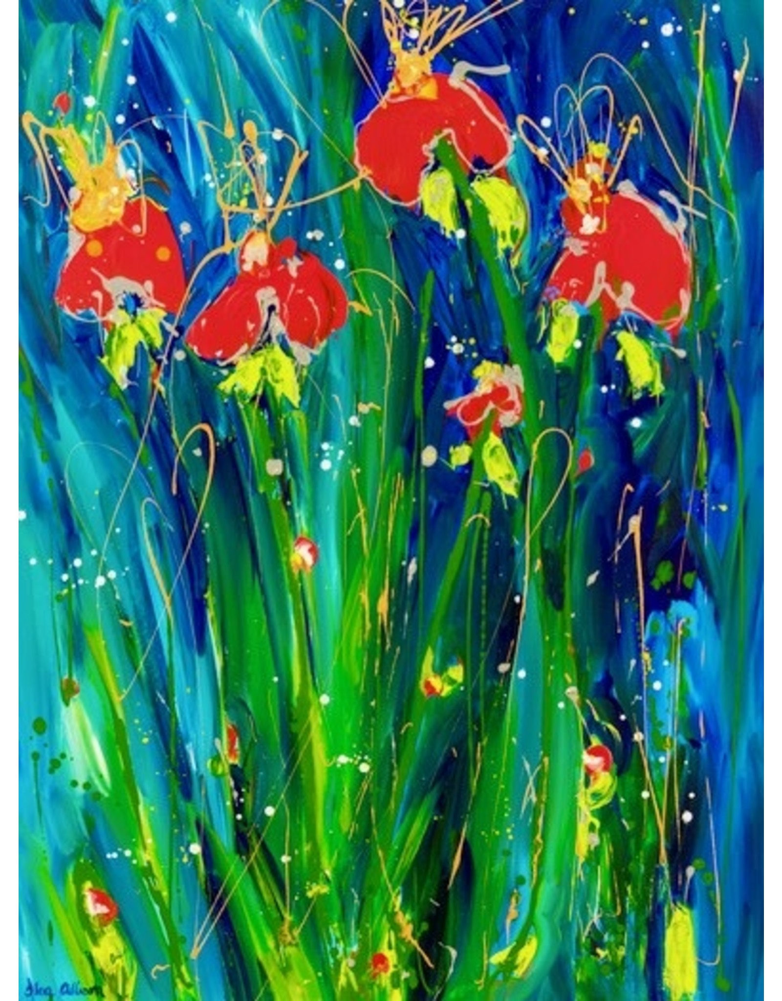 "Lisa Jill Allison SLEEPING BEAUTY, acrylic on GW canvas, 40x30"", LISA"