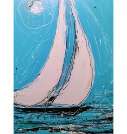 "Lisa Jill Allison MOON KISSED, acrylic on GW canvas, 40x30"", LISA"