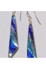 Renaissance Glass RENAISSANCE DICHROIC ART GLASS EARRINGS, FRAT