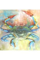 "Michaelann Bellerjeau COBALT CRAB, archival giclee on GW canvas, 16x16"" MICB"