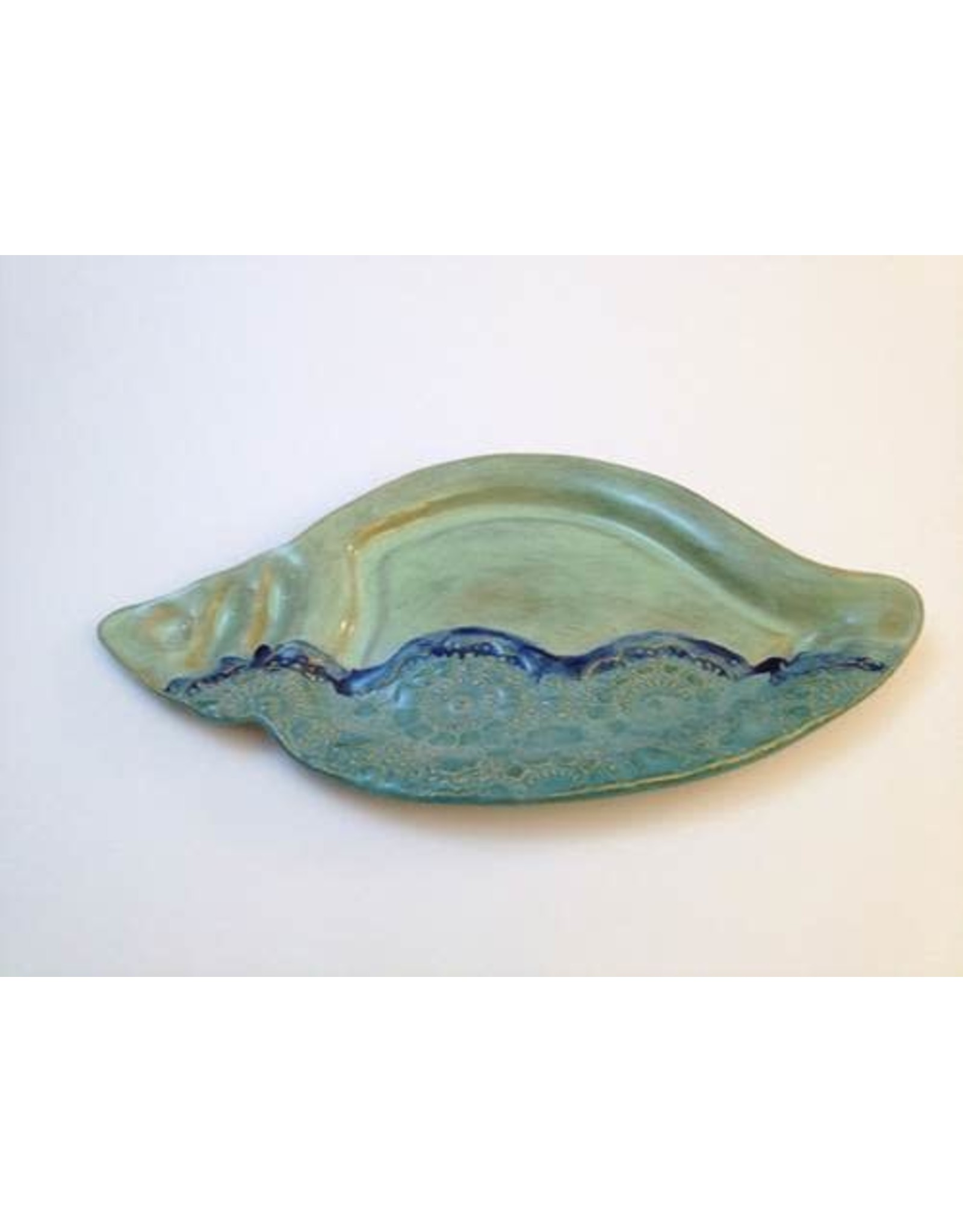 "Clarkware Pottery CONCH SHELL PLATTER 7x14"" (CLARK)"