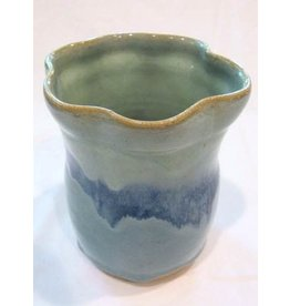 Clarkware Pottery VASE, blue, 4x5x4, Clark