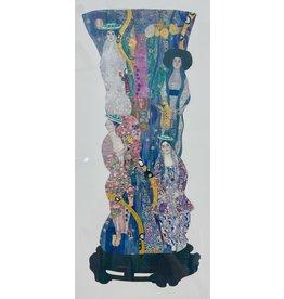 "Pam Maschal KLIMT PAPER &  JEWEL COLLAGE, framed,19x27"", PAMM"