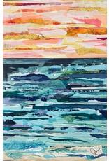 "Pam Maschal SEASCAPE  COLLAGE  (Mixed Media, 24x36"" PAMM)"