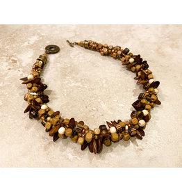 "Susan Estrella WOODWAVE, Kumihimo necklace, 17"", SUSE"