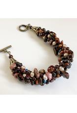 """Susan Estrella MAROONED, Kumihimo bracelet, 6"""" wrist, SUSE"""