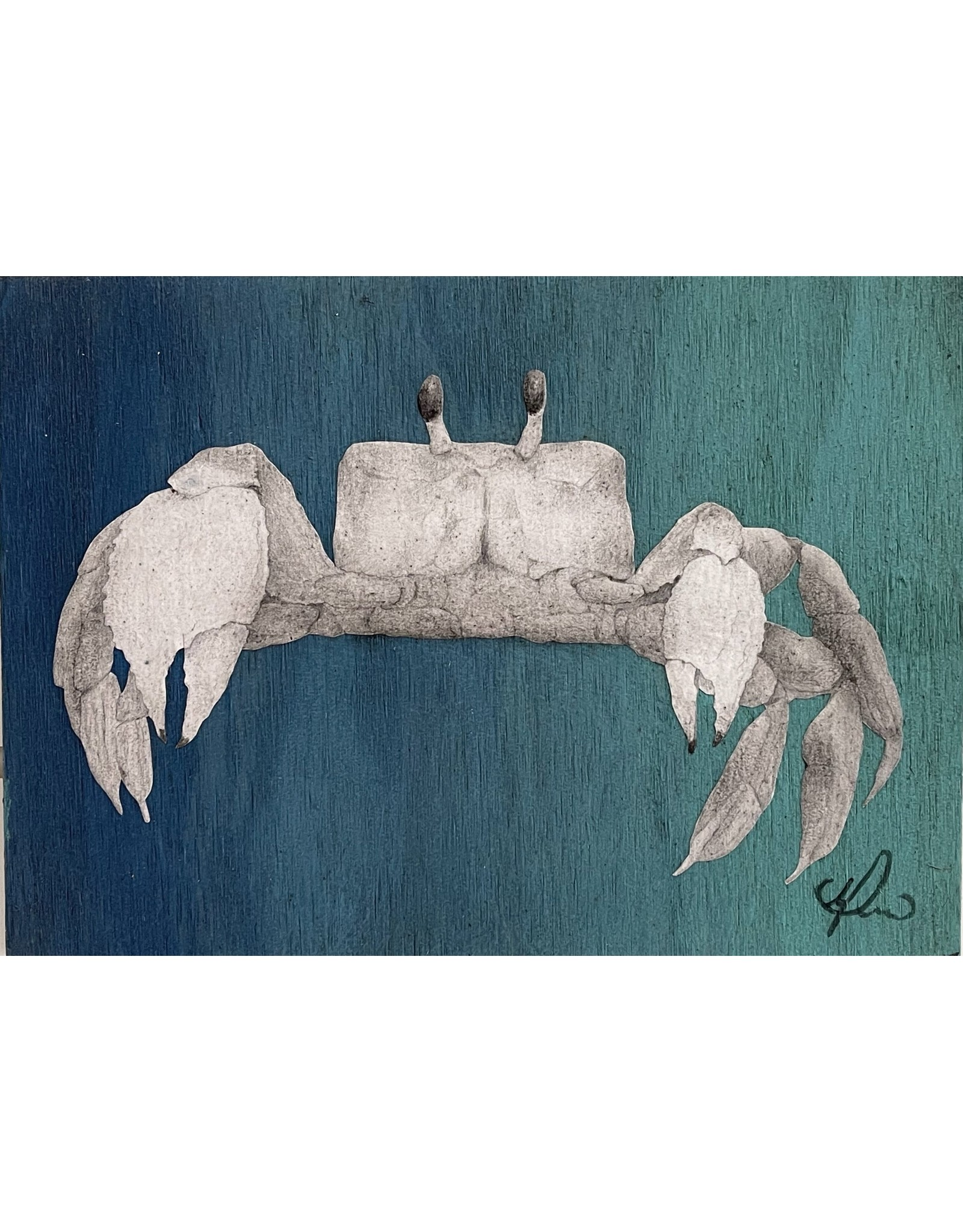 """Molly Pearce Blue Crab, mixed media on panel 48x24"""", MOLP"""