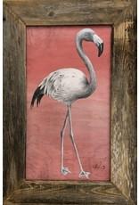 "Molly Pearce Flamingo on panel, framed, 20x30"", MOLP"