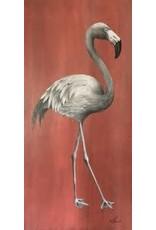 """Molly Pearce Flamingo, mixed media on panel, 48x24"""", MOLP"""