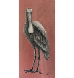 """Molly Pearce Roseate Spoonbill, mixed media on panel, 48x24"""", MOLP"""