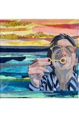 Pam Maschal Bubbles, Collage, 10x10, PAMM