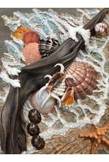 "Carol Merritt Gifts From the Sea, mixed media on panel, 16x20"" CARM"