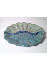 Clarkware Pottery Sea Shell Dish, blue, CLARK