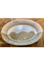 """SERVING BOWL, OVAL, white or blue, 13x8"""", CLARK"""
