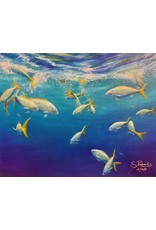 """Susan Roberts YELLOW TAIL I, giclee on GW canvas, 8x10"""", SUSR"""