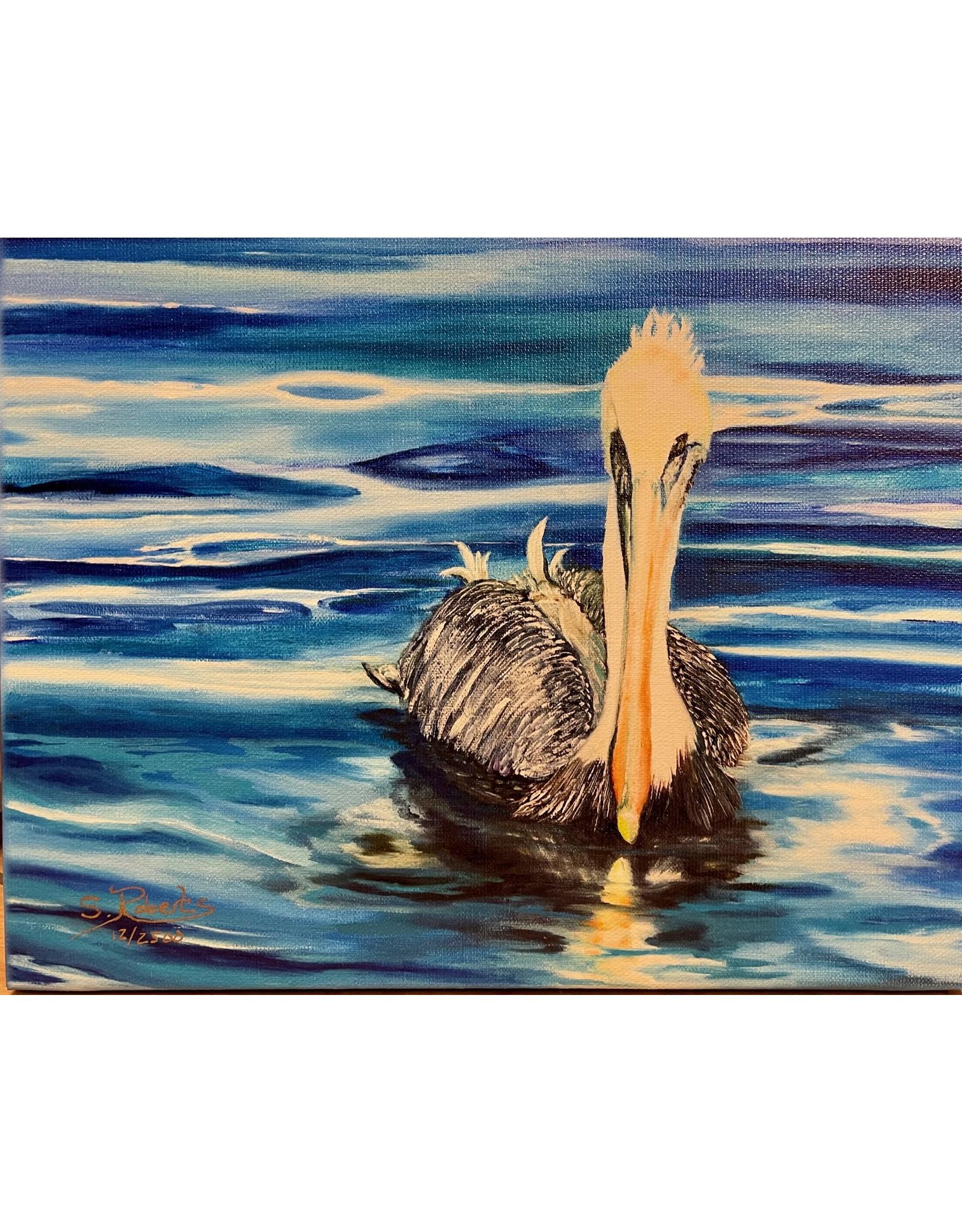 """Susan Roberts PATIENT PETE, giclee on GW canvas, 8x10"""", SUSR"""