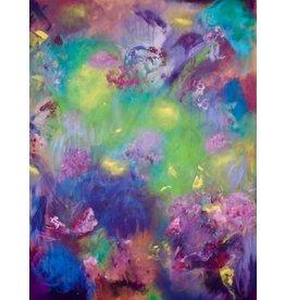 """Teresa Kay Night Garden, giclee on archival canvas, 16x20"""", TERK"""