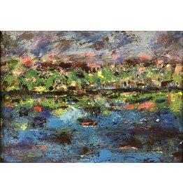 "Teresa Kay Carnivale, acrylic on canvas, 15x19"" TERK"