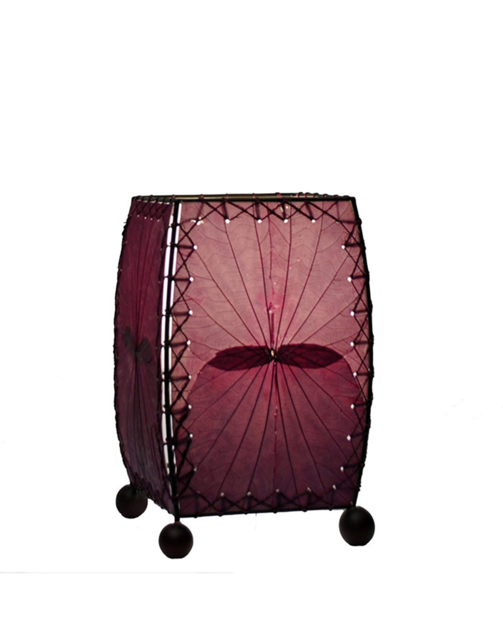 Eangee Home Design Lamp, EANGEE Mini SQ. Alibangbang Purple w/LED Bulb