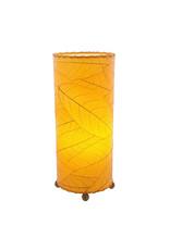 "Eangee Home Design Lamp, EANGEE, Cocoa Leaf Cylinder, 17x7"", orange"