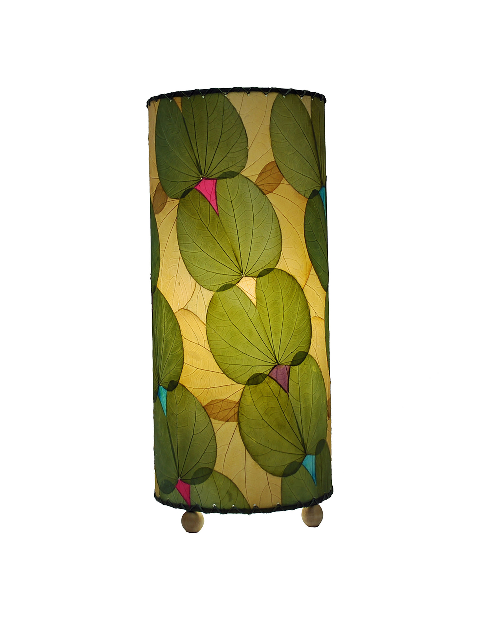 """Eangee Home Design Lamp, EANGEE, BUTTERFLY, Cylinder, 17x7"""", Green"""