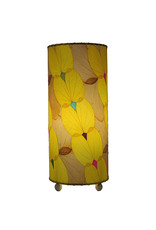 """Eangee Home Design Lamp, EANGEE, BUTTERFLY, Cyl. O/I, 17x7"""", YLW"""