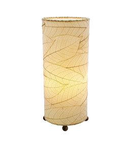 "Eangee Home Design Lamp, EANGEE, Cocoa Leaf Cylinder, O/I, 17x7"", natural"