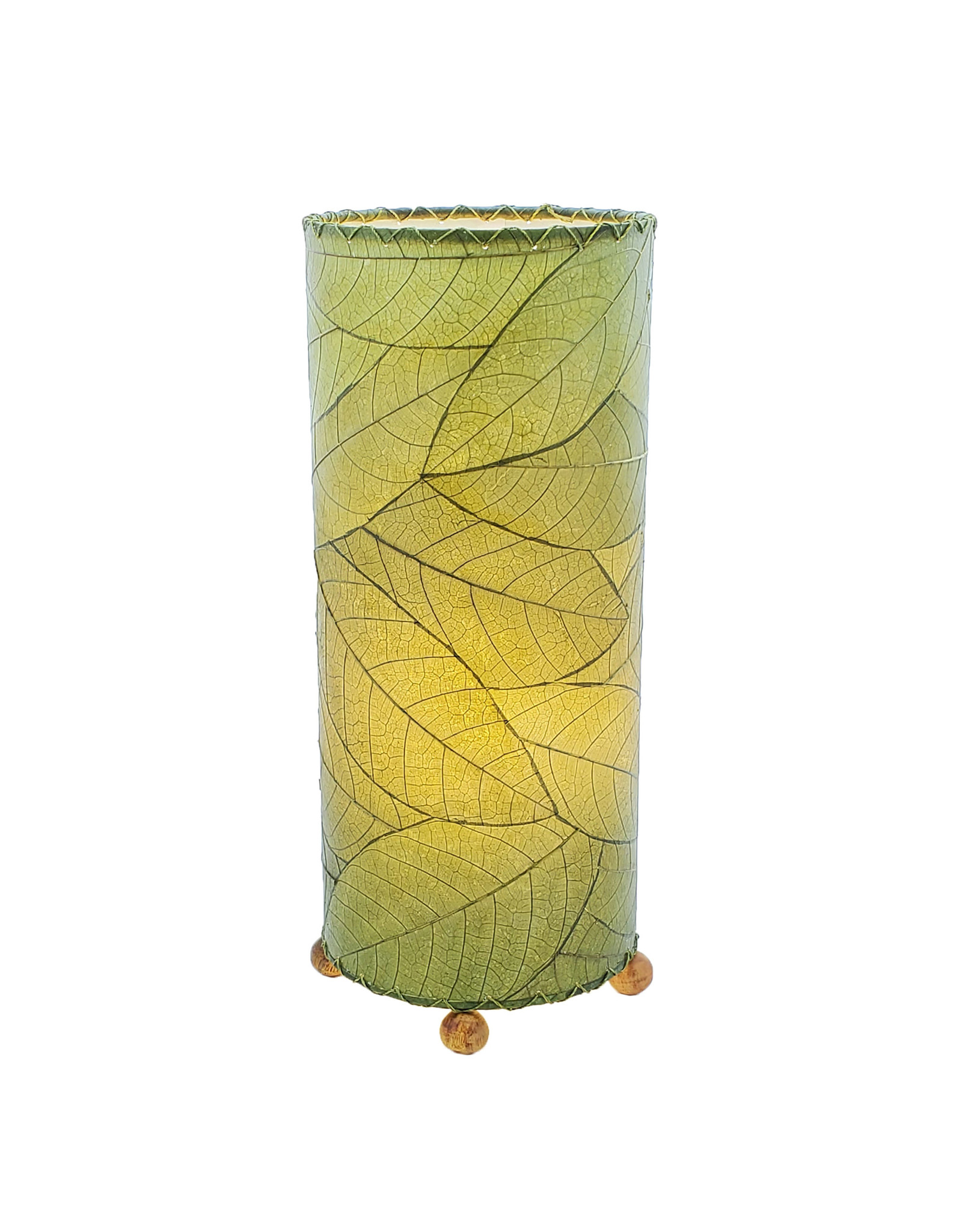 """Eangee Home Design Lamp, EANGEE, Cocoa Leaf Cylinder, 17x7"""", green"""