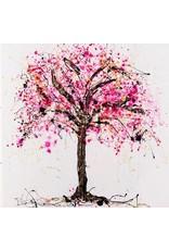 "Lisa Jill Allison RED BECOMES ME, acrylic on GW canvas, 48x48"" LISA"