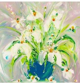 "Lisa Jill Allison A BUNCH OF JOY, acrylic on GW canvas, 36x36"", LISA"