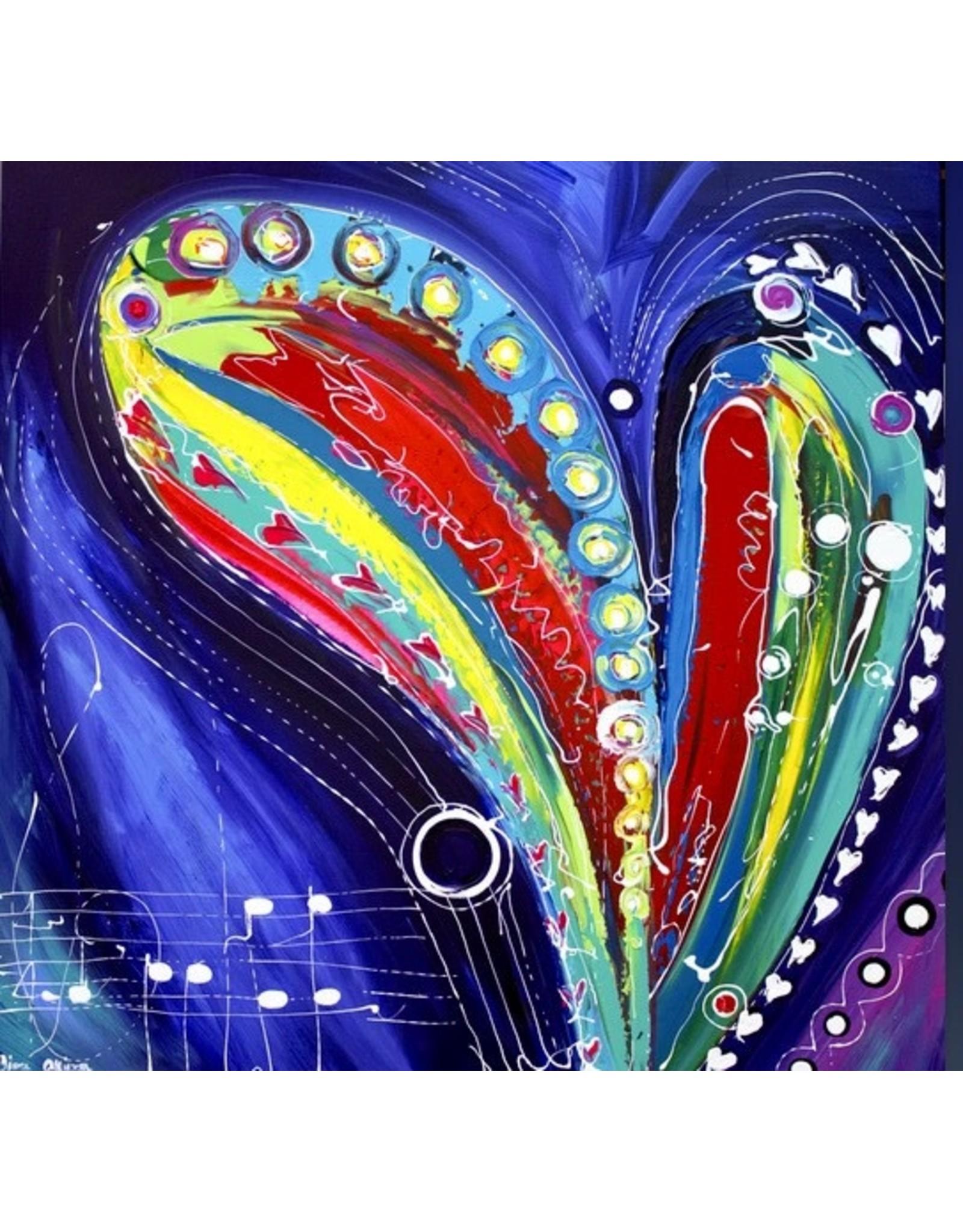 "Lisa Jill Allison HEART TUG,  acrylic on GWcanvas, 36x36"" LISA"