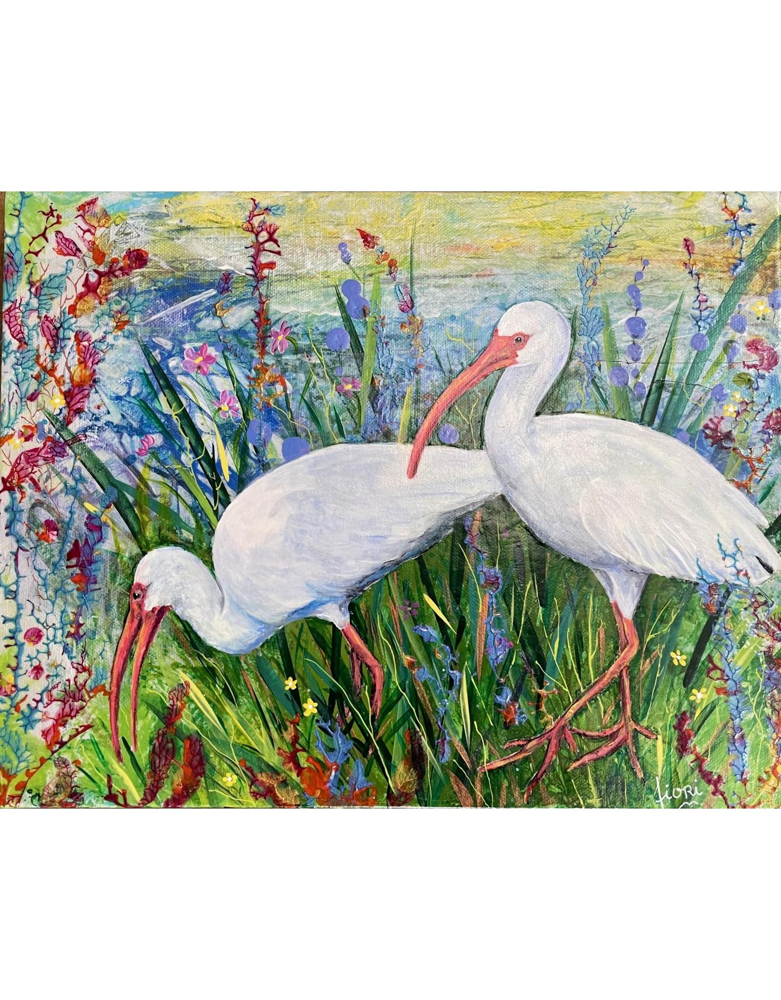 """Fiori Ferraris """"Pristine Feathers"""" acrylic on canvas, 14x11"""" FIORI"""