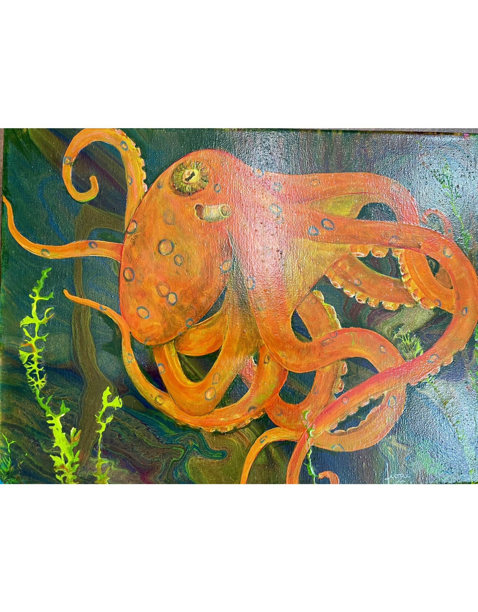"Fiori Ferraris ""Orange Sherbet"" , acrylic on canvas, 16x12"", FIORI"