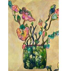 "Fiori Ferraris ""Naples Yellow"", floral, acrylic on canvas, 11x14"", FIORI"