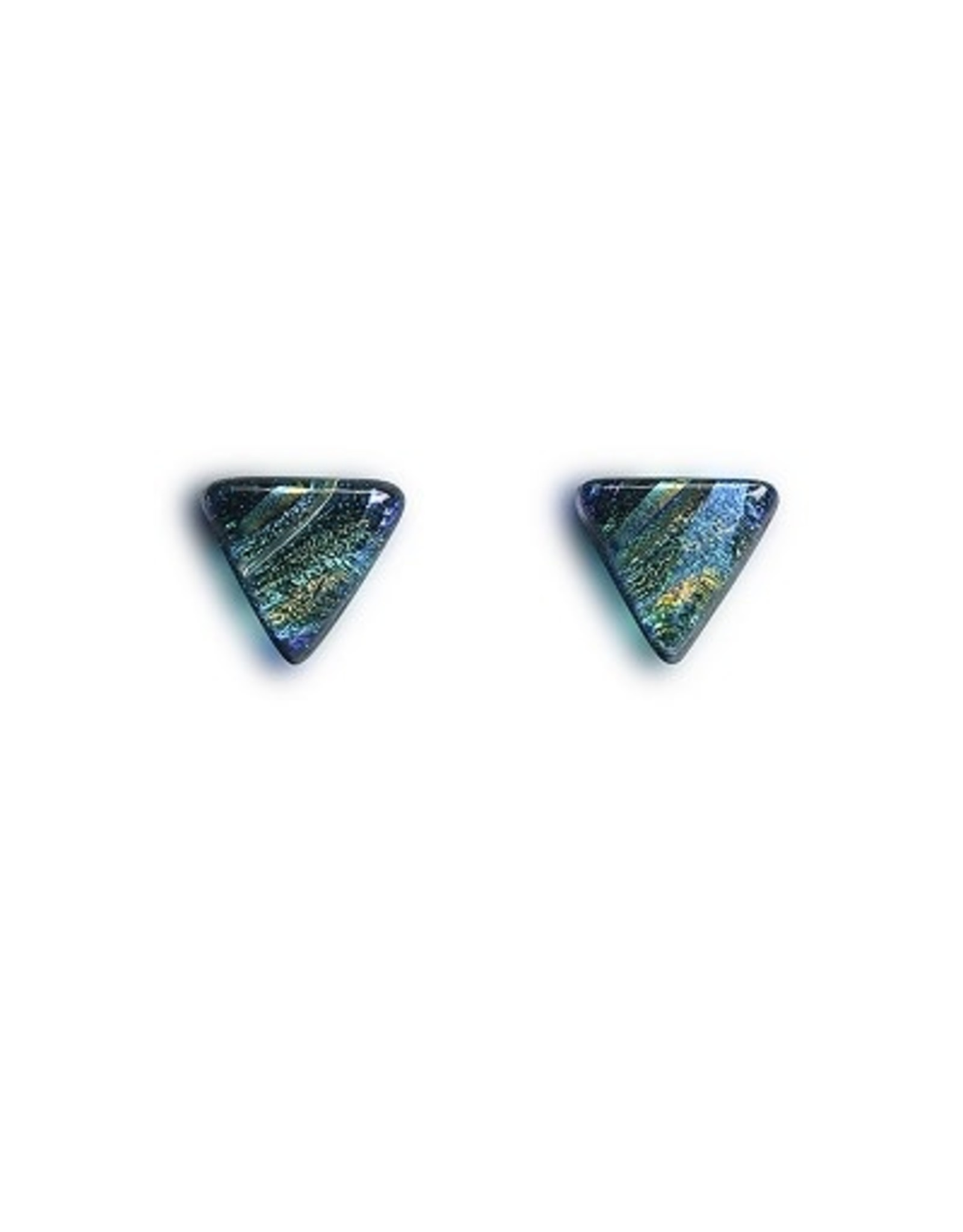 Renaissance Glass RENAISSANCE POST EARRINGS (Dichroic Art Glass, Assorted Colors, #220, FRAT)